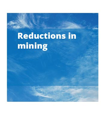 Reductions in mining